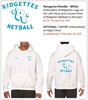 Ridgettes WHITE Hoodies - UMPIRE ONLY